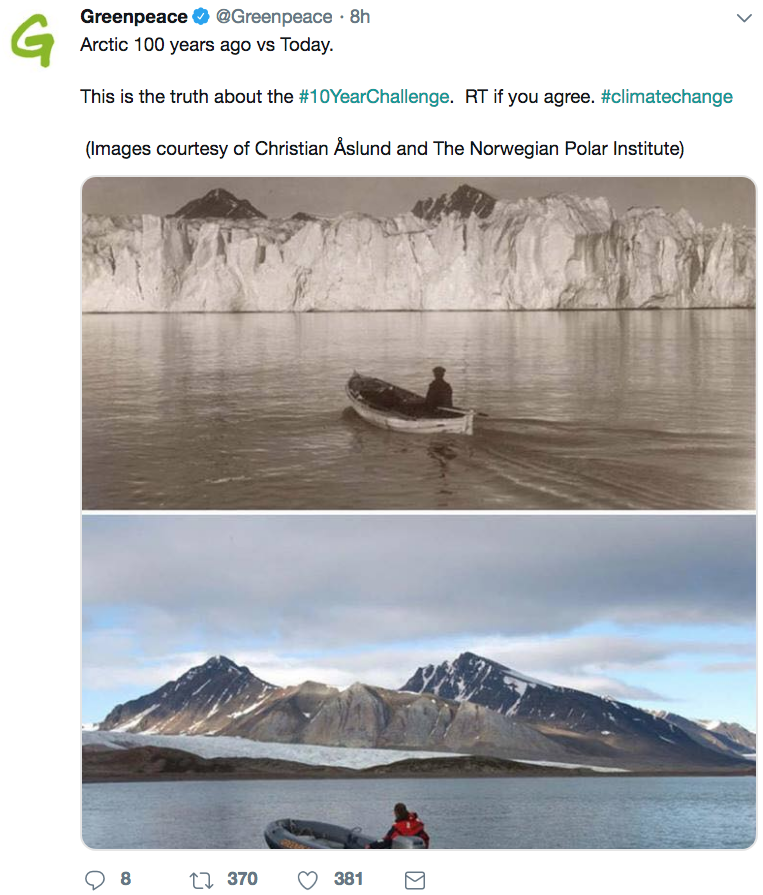 greenpeace 10 year challenge